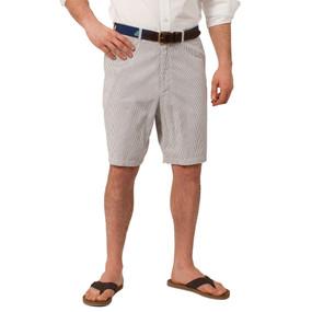 Castaway Clothing Cisco Seersucker Shorts - Navy