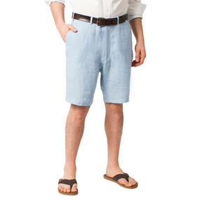 Castaway Clothing Solid Linen Shorts - Great Pt. Blue