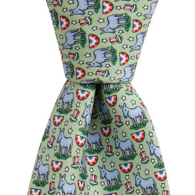 Vineyard Vines Political Democrat Donkey Neck Tie - Green