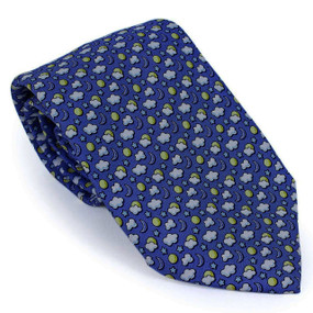 Vineyard Vines Sun & Moon Neck Tie - Navy Blue