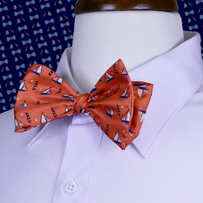 Sailboats & Lighthouses Bow Tie - Peach