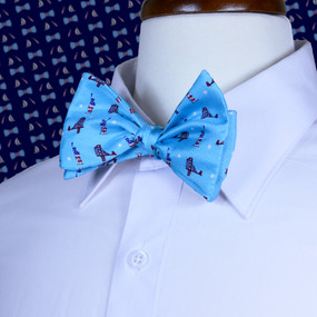 Sea to Shining Sea Bow Tie - Light Blue