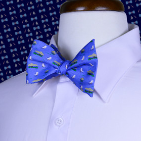 The Tiki Lounge Bow Tie - Blue