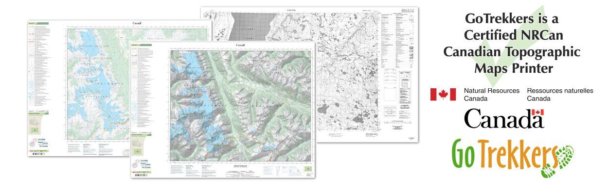 Topographic Map & Travel Map Online Store | GoTrekkers.com on
