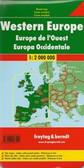 Europe Western Travel Map