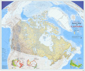 Canada map with relief