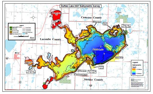 Buffalo Lake Map | Canada map | GoTrekkers Map Store on