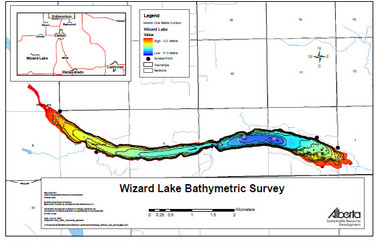 Wizard Lake Map | Canada map | GoTrekkers Map Store