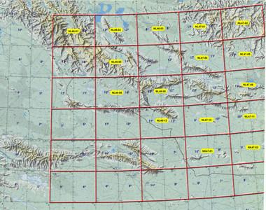 Mongolia SW 250k Topographic Maps