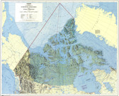 Northern Canada Map from 1974