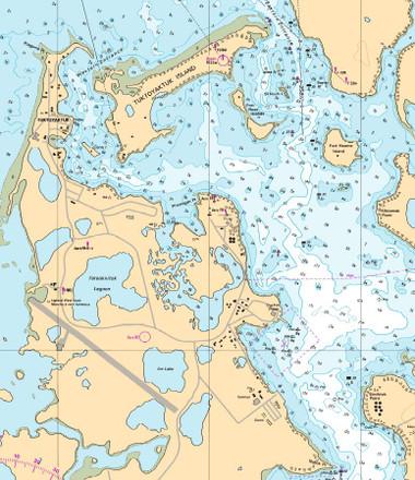 Nautical Chart Example Detail - Arctic Region