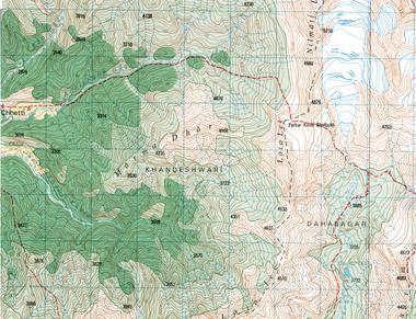 Nepal Topographic Map 1:50K