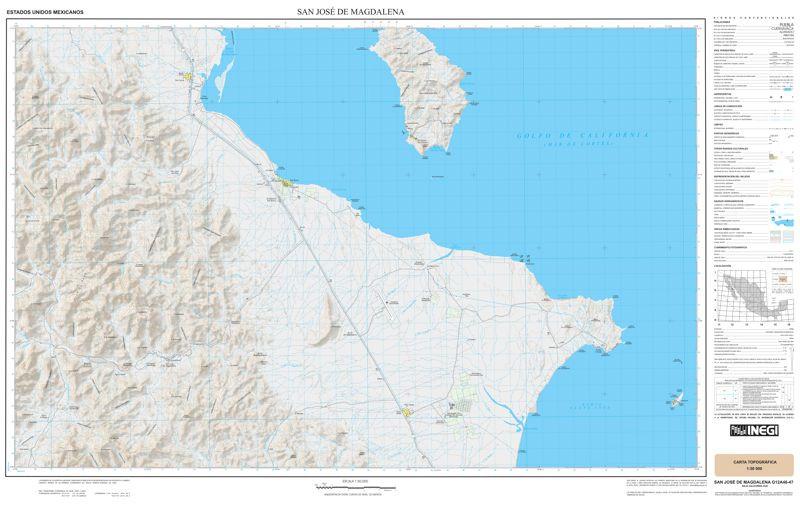 Baja Mexico Topographic Map