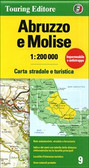 Abruzzi and Molise Road and Travel Map