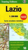 Lazio Road and Travel Map