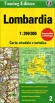Lombardia Road and Travel Map