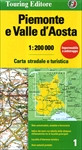 Piemonte e Valle d Aosta Road and Travel Map