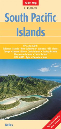 South Pacific Islands Nelles Travel Map