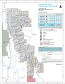 """Alberta Porcupine Hills PLUZ map 2021 by Alberta government 26"""" x 34"""", charge for printing only"""