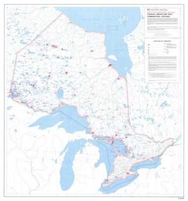 Canada Indian & Inuit Communities Ontario Map