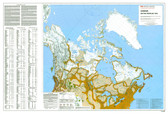 "Canada government Native peoples 1823 Map 45"" x 31"" from the 1980's"