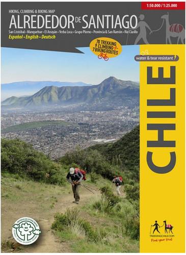 Alrededor De Santiago Chile Trekking Map