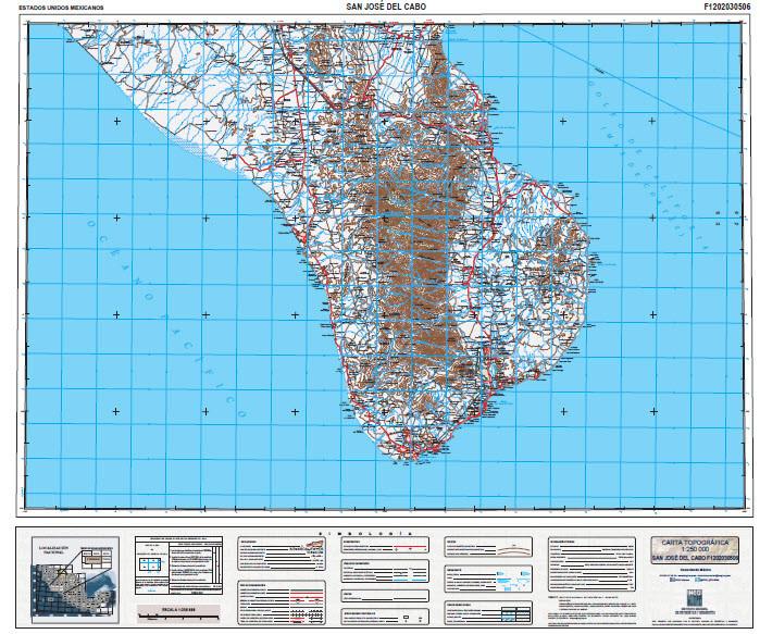 Baja Topo Maps Gotrekkers Map Store