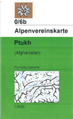 Austrian Alpine Club expedition series topographic map of the Ptukh in Afghanistan map in Afghanistan map in Afghanistan at scale 1:50,000k