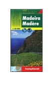 Madeira on a double-sided, indexed, hiking map from Freytag & Berndt at 1:30,000 with prominent highlighting for walking routes, scenic roads, picturesque locations and places of interest, plus a street plan of central Funchal and a booklet with general notes about the island and brief descriptions of seven recommended hiking routes. Place names and road numbers are in larger size font than found on other maps of the island.   Topography is presented by contours enhanced by relief shading, with numerous spot heights and names of geographical features. Boldly presented road network includes local roads or tracks, gives distances on main routes, and shows gradients on steep sections. Scenic routes are prominently marked. Hiking trails are also highlighted and where appropriate annotated with their official waymarking route numbers. The map indicates picturesque towns and villages; a wide range of other icons mark various places of interest.   A separate inset at 1:40,000 shows Porto Santo with similar presentation. For GPS, the map has a UTM grid, plus latitude and longitude margin ticks and crosshairs at intervals of 2'. The booklet provides an index which also gives for each location its GPS waypoints. Also provided is a street plan showing main sights in Funchal. Map legend and the text in the booklet include English.   Please note: the same map is also published by Freytag & Berndt at 1:40,000, presenting the whole island on one side. Accompanying multilingual booklet has descriptions of best sights.