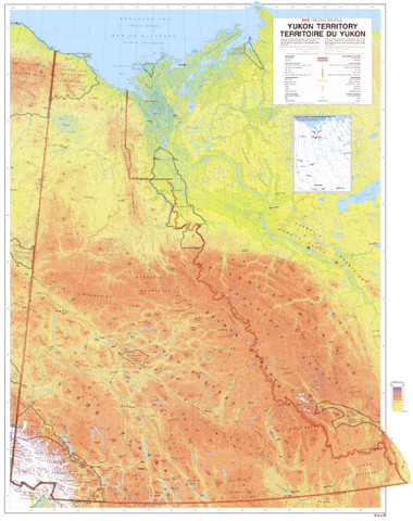 """Nice Yukon map 24' x 30"""" from 1993. Only map of its kind from Canadian Govt"""