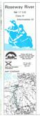 Roseway River C - D Nova Scotia Canoe  Map