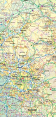England Wales North and Central itmb Travel Map