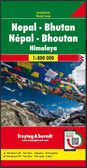 Nepal Bhutan Travel Map