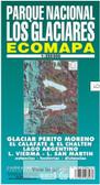 Los Glaciares National Park Trekking Map