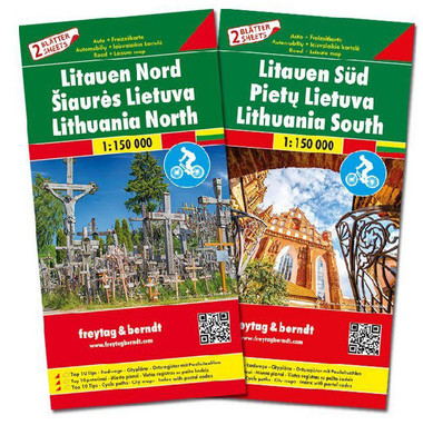Lithuania East and West Travel Map
