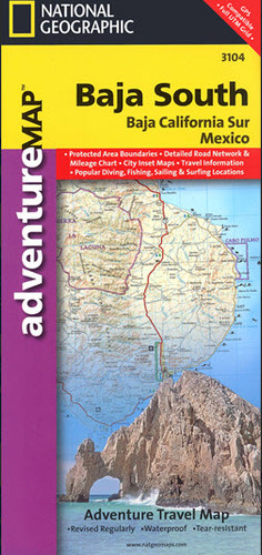 Baja South Travel Map