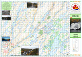 "Map of Coghlan Falls Saskatchewan with data supplied by Churchill River Canoe. 32"" x 22"" scale 1;50,000"