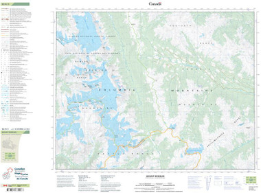 British Columbia Topographic Map
