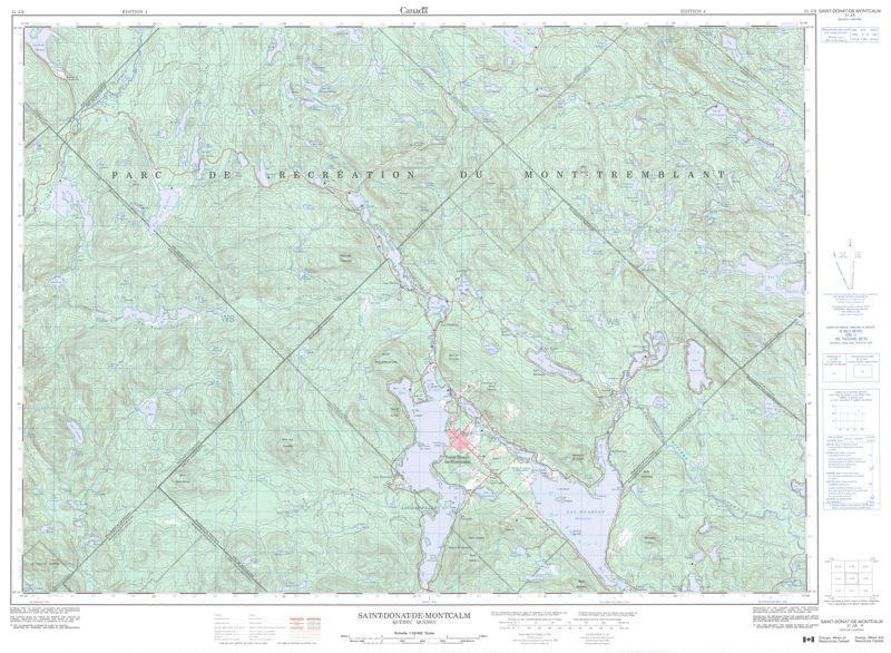 Quebec Topographic Map.Topographic Maps Quebec Qc Topo Maps Gotrekkers Com