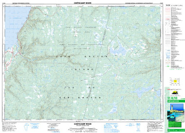 Nova Scotia Topographic Map