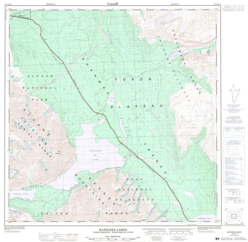 Topographic Maps Yukon Yt Topo Maps Gotrekkers Com
