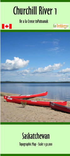Churchill River 01 Canoe Map