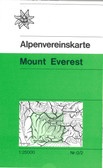 austrian alpine club mount everest trekking topographic map