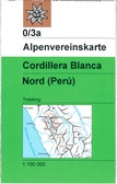 Cordillera Blanca North in Peru map