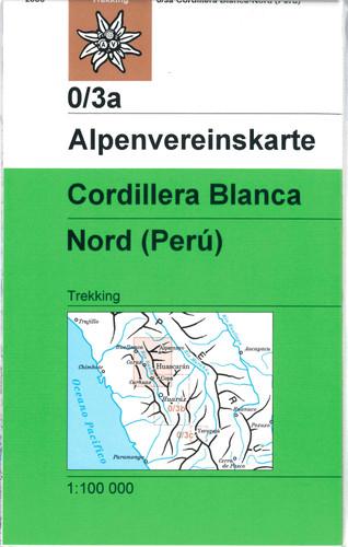 Cordillera Blanca North in Peru map