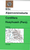 Cordillera Huayhuash in Peru map