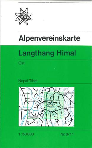 Langtang Himal East in Nepal map