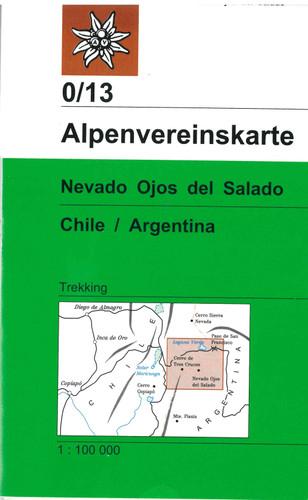 Nevado Ojos del Salado in Chile Argentina map