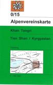 Tien Shan East in Kyrgyzstan map