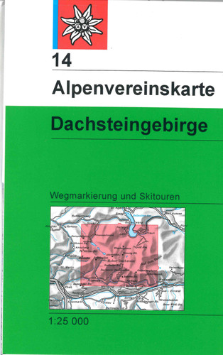 Dachsteingebirge Hike Ski Tour in Austria map